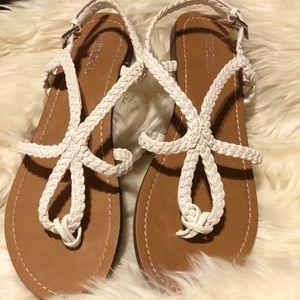 Merona white sandals